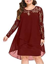 Недорогие -женское повседневное платье длиной до колен в тонкую рубашку красный черный синий xl xxl xxxl xxxxl