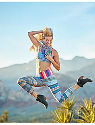 baratos -Mulheres Diário Esportivo Legging - Listrado Cintura Média