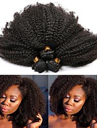 billige -3 pakker Brasiliansk hår Afro Kinky Remy Menneskehår Hairextensions med menneskehår 10-28 tommers Naturlig Hårvever med menneskehår Beste kvalitet Ny ankomst Hot Salg Hairextensions med menneskehår