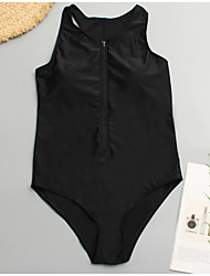 povoljno -Žene Osnovni Crn Suknja Jednodijelno Kupaći kostimi - Jednobojni XXL XXXL XXXXL