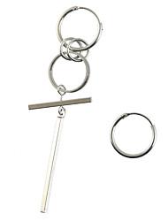 hesapli -1 çift Erkek Uyumsuz Eşleşmeyen Küpeler - moda abartma Mücevher Gümüş Uyumluluk Randevu Cadde