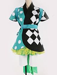 זול -קיבל השראה מ קוספליי קוספליי אנימה תחפושות קוספליי חליפות קוספליי תבנית גאומטרית חצאית / שמלה / חגורה עבור בגדי ריקוד גברים / בגדי ריקוד נשים