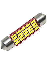 Недорогие -SO.K 4шт 41mm Автомобиль Лампы 3 W SMD 4014 250 lm 16 Светодиодная лампа Внутреннее освещение Назначение Универсальный Все года