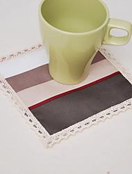 baratos -Moderna Poliéster Elástico Tricotado 100g / m2 Quadrada Marcadores de Lugar Geométrica Decorações de mesa 1 pcs