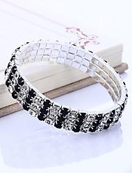 Недорогие -женский корейский / многослойный драгоценный камень&хрустальный браслет