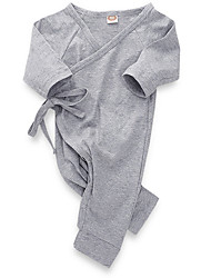 お買い得  -赤ちゃん 女の子 ストリートファッション 日常 ソリッド 長袖 ポリエステル ワンピース ホワイト