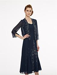 cheap -3/4 Length Sleeve Chiffon Wedding / Party / Evening Women's Wrap With Beading Shrugs