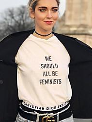 povoljno -Majica s rukavima Žene - Ulični šik Dnevno Jednobojni / Geometrijski oblici