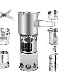Недорогие -ARDI® Набор походной посуды Походная кастрюля Столовые наборы Полки для посуды и аксессуары принадлежность Легкость за 2 человека Нержавеющая сталь Алюминиевый сплав на открытом воздухе