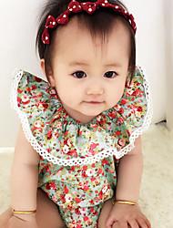 お買い得  -赤ちゃん 女の子 ストリートファッション 日常 フラワー ノースリーブ ポリエステル ボディスーツ ピンク