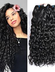 abordables -Lot de 3 Cheveux Brésiliens Ondulation Cheveux Vierges Naturel Tissages de cheveux humains Accessoire de Costume Bundle cheveux 8-28 pouce Couleur naturelle Tissages de cheveux humains Sans odeur