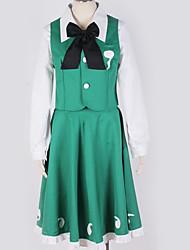 baratos -Inspirado por Projecto de Touhou Fantasias Anime Fantasias de Cosplay Ternos de Cosplay Contemporâneo Peitilho / Blusa / Vestido Para Homens / Mulheres