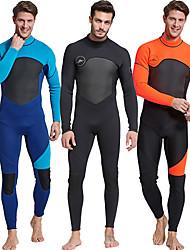 זול -SBART בגדי ריקוד גברים חליפה רטובה מלאה 3mm חליפות צלילה שרוול ארוך סתיו / אביב / קיץ / חורף / גמישות גבוהה
