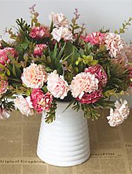 abordables -Flores Artificiales 5 Rama Clásico Europeo Estilo Pastoral Crisantemo Flor de Mesa