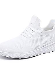 Недорогие -Муж. Комфортная обувь Сетка Весна лето На каждый день Спортивная обувь Беговая обувь Дышащий Черный / Серый / Красный