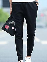 povoljno -muške hlače od chinos veličine u azijskim dimenzijama - u crnoj boji