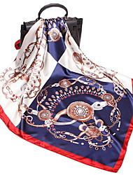 Недорогие -Жен. Квадратный платок - С кисточками Искусственный шёлк, Геометрический принт