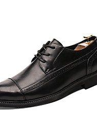 cheap -Men's Comfort Shoes Microfiber Spring &  Fall Oxfords Black / Gray / Dark Brown