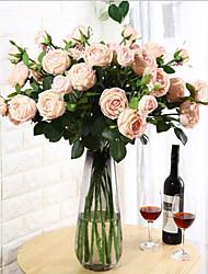 levne -Umělé květiny 1 Větev Klasické Evropský Pastýřský Styl Camellia Květina na stůl