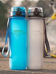 Недорогие -UZSPACE® чайник Бутылки для воды 1000 ml PP ПК Пищевые материалы Портативные Cool для Путешествия Катание вне трассы На открытом воздухе Зеленый Серый Пурпурный Тёмно-синий