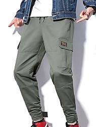 povoljno -muške hlače od chinos veličine u azijskim veličinama - zelena boja u boji