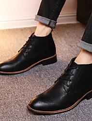 Недорогие -Муж. Армейские ботинки Искусственная кожа Осень Ботинки Ботинки Черный / Темно-русый / Темно-коричневый