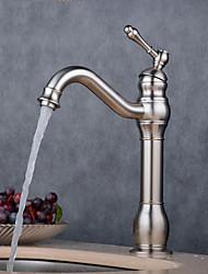 Недорогие -Ванная раковина кран - Широко распространенный Электропокрытие Другое Одной ручкой одно отверстиеBath Taps