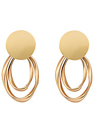 ราคาถูก -สำหรับผู้หญิง ต่างหูแบบห่วง - ทองชุบ เครื่องประดับ ทอง สำหรับ งานแต่งงาน ทุกวัน 1 คู่