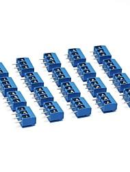 Недорогие -3-контактный винтовой клеммный блок разъем 5 мм шаг для Arduino (в упаковке 20 шт.)