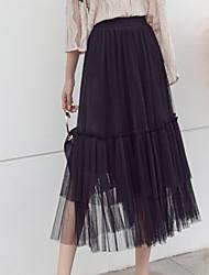 Χαμηλού Κόστους -Γυναικεία Γραμμή Α Κομψό στυλ street Φούστες - Μονόχρωμο