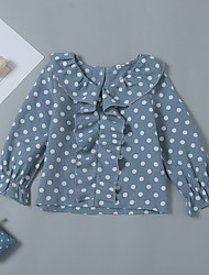 זול -חולצה שרוול ארוך מנוקד בנות תִינוֹק