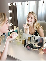 Недорогие -10leds диммер usb новинка фары usb port зеркало для макияжа светодиодные фонари 10 голливудских лампочек для туалетного столика