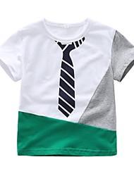 abordables -bébé Garçon Basique Imprimé Manches Courtes Coton / Spandex Tee-shirts Blanc