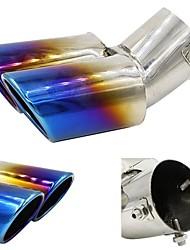 Недорогие -1 шт. 0.63 mm Советы по выхлопной трубе изогнутый Нержавеющая сталь Глушители выхлопа Назначение Универсальный Все модели Все года