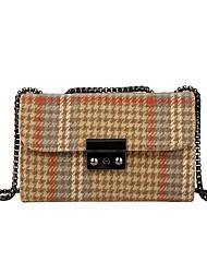 Χαμηλού Κόστους -Γυναικεία Τσάντες Ψεύτικη Γούνα Τσάντα ώμου Δικτυωτό Μαύρο / Καφέ / Χακί
