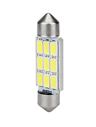 Недорогие -1 шт. 36mm Автомобиль Лампы 6 W SMD 5630 9 Светодиодная лампа Подсветка для номерного знака / Внутреннее освещение Назначение Универсальный / Volkswagen / Toyota Все года
