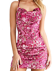 cheap -Women's Party Daily Basic Sheath Dress - Leopard Strapless Spring Black Pink Yellow M L XL / Sexy