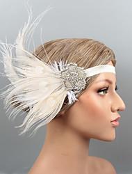 economico -Piume Cerchietti / Copricapo / Accessori per capelli con Con diamantini / Cristalli / Piume 1 pezzo Matrimonio / Party / serata Copricapo