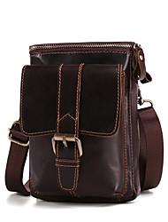 hesapli -Erkek Çantalar Sığır Derisi Omuz çantası için Günlük Kahve / Kahverengi