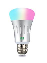 abordables -ywxlight®1pc 7w 600-700lm rgb amazon écho voix wifi app smartphone application télécommande led ampoule intelligente 85-265v