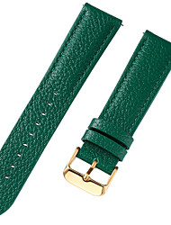 cheap -Genuine Leather / Leather / Calf Hair Watch Band Strap for Blue / Brown / Green 17cm / 6.69 Inches / 18cm / 7 Inches / 19cm / 7.48 Inches 1cm / 0.39 Inches / 1.2cm / 0.47 Inches / 1.3cm / 0.5 Inches