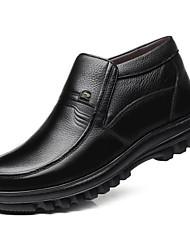 povoljno -Muškarci Udobne cipele Koža Zima Čizme Čizme gležnjače / do gležnja Crn / Braon