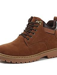 Χαμηλού Κόστους -Ανδρικά Παπούτσια άνεσης PU Χειμώνας Μπότες Μποτίνια Μαύρο / Κίτρινο / Χακί