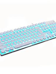 Недорогие -LITBest K100 USB Проводной Игровые клавиатуры Светящийся Монохромный подсветка 104 pcs Ключи