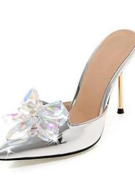 Χαμηλού Κόστους -Γυναικεία Λουστρίν / PU Καλοκαίρι Γλυκός / Μινιμαλισμός Γαμήλια παπούτσια Τακούνι Στιλέτο Μυτερή Μύτη Τεχνητό διαμάντι Φούξια / Ασημί / Ροζ