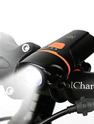 Недорогие -Светодиодная лампа Велосипедные фары Передняя фара для велосипеда Фары для велосипеда Фонарь LED Горные велосипеды Велоспорт Водонепроницаемый Безопасность Портативные Перезаряжаемая батарея 200 lm
