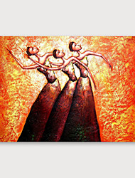 저렴한 -항으로 그린 유화 손으로 그린 - 추상적인 우아한 내부 프레임 포함