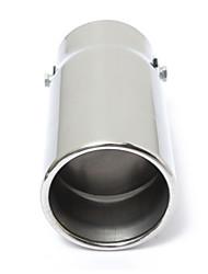 Недорогие -1 шт. 70 mm Советы по выхлопной трубе выпрямленный Нержавеющая сталь Глушители выхлопа Назначение Универсальный Дженерал Моторс Все года