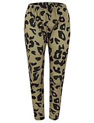 povoljno -Žene Ulični šik Chinos Hlače Leopard
