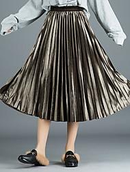Χαμηλού Κόστους -Γυναικεία Κούνια Κομψό στυλ street Φούστες - Μονόχρωμο